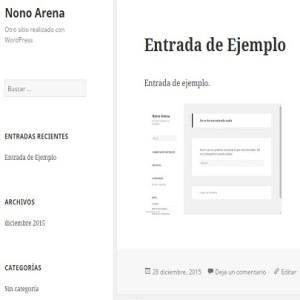 Imagen de la primera versión del Blog Nono Arena antes de cualquier cambio