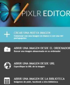 Acceso al Editor de Imagenes PIXLR