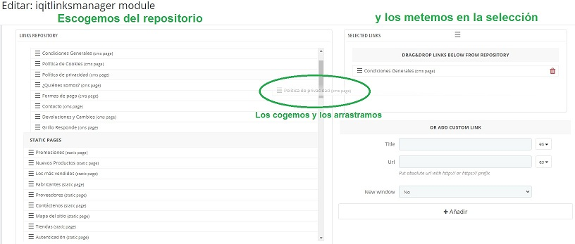 iqitlinksmanager-Configuración-modulo-incluir-enlaces